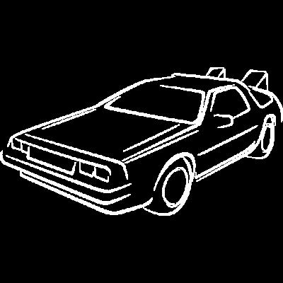 Skizzieren Sie zurück in die Zukunft - Die Skizze von P'tee French ... das Emblem von Marty und Doc zurück in die Zukunft ... die Zeitreise der Maschine von Back in die Zukunft. - vorbei,Zurück in die Zukunft,Zukunft,Zeit,Return,Reise,Nerd,Maschine,Geek,Film,Doc