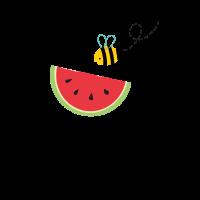 Sommer Lustige Wassermelone Biene Geschenk frisch