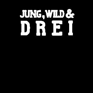 Jung, Wild & Drei - lustig 3. Geburtstag Kinder