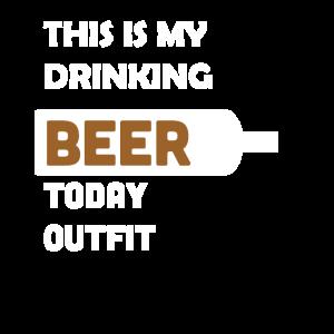 Bier Trinker Outfit Säufer Sauftour Männertag