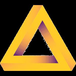 3D gelbes Dreieck
