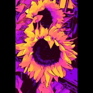 Funky Sunflower - Sonnenblumen / welikeflowers