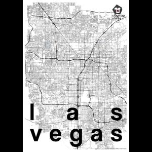 Las Vegas Hipster Stadt Karte schwarz weiß