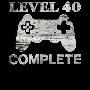 40 Jahre - 40. Geburtstag Level 40 Complete Shirt