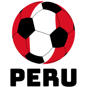 Peru Ball mit Text Peru Geschenk Sport