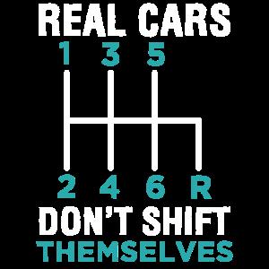 Echte Autos verschieben sich nicht