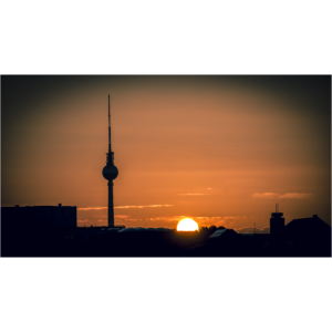 Sonnenuntergang in Berlin