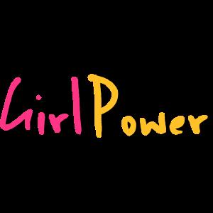 Mädchen-Power-Schriftzug