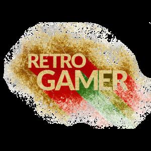 retro, gamer, spielen