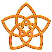 Venus Flower - FLOWER OF LOVE, digital orange, symbol of love, balance and beauty