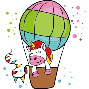 Einhorn Heißluftballon