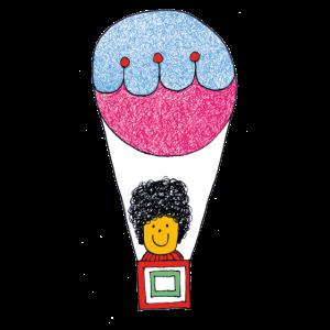 Heftiger Ballonfahrer der Illustration