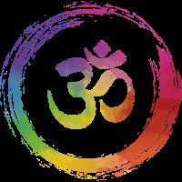 Yoga colorful Chakra OM