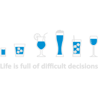 Life is full of difficult decisions - schwarz