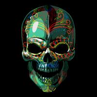 SugarSkull 01 Grunge
