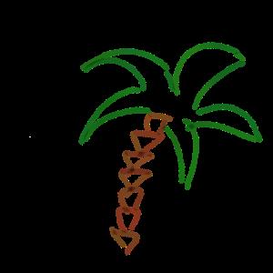 palme Geschenk Sommer