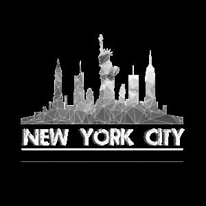 New York City Skyline in grau