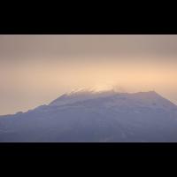 Schneebedeckte Bergspitze