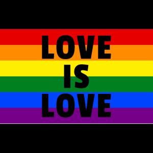 Love is Love Regenbogenfahne Gay Pride Geschenk
