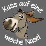 Esel Kuss (Text weiss)
