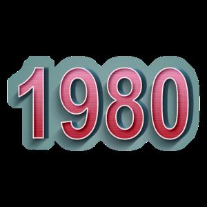 1980 Comic Retro Schriftzug