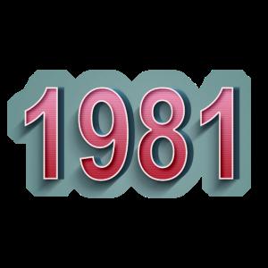 1981Comic Retro Schriftzug