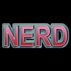 Comic Retro Nerd Schriftzug