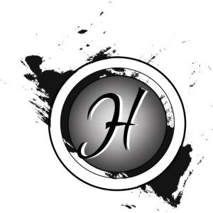 en noir est blanc logo