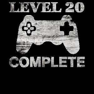 20 Jahre - 20. Geburtstag level 20 complete Shirt