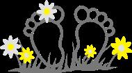 Neue Motive und Topseller: Zehen mit Blumen, Flower Power