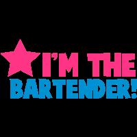 Ich bin der Barkeeper Kellnerin dienen die