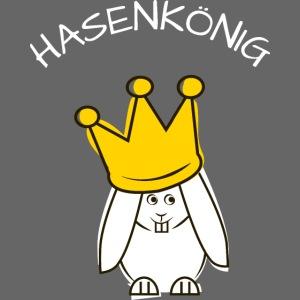 Hipps mit Schriftzug Hasenkönig (weiß)