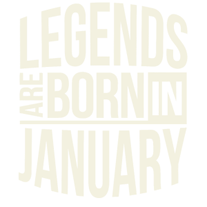 Legends are born in January shirt