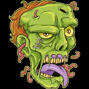 Zombie Kopf Halloween Horror Geschenk