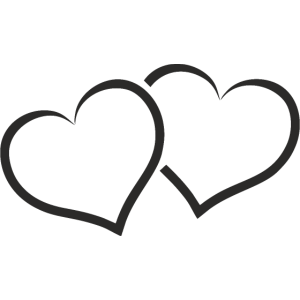 Zwei Herzen vereint sehr Romantisch als Geschenk