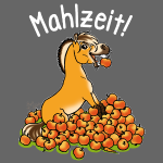 Fjordy mit Apfel Mahlzeit (Text weiss)