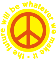 Sprüche- Kult- & Fun-Shirt: Peace - The future will be whatever we make it