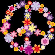 Neue Motive und Topseller: Frieden/Peace Symbol mit Blumen