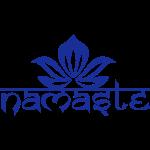 Namaste Lotus Yoga Motiv in Trendfarben MEGA