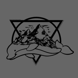 Delphin und Gebirge