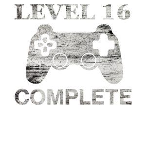 16 Jahre - 16. Geburtstag Level 18 Complete Shirt