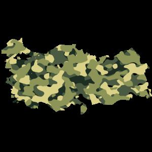 Türkiye Haritasi Kamuflaj
