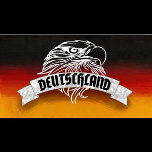 Deutschland Flagge mit Adler - Geschenk zur WM