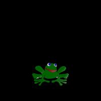 Fürchte die Hypnokröte, Humor mit Fröschen Modell2
