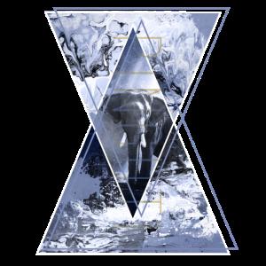 Elefant Dreieck Abstrakt