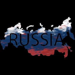 Russland - Land Flagge