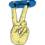 fumo finger skateboard