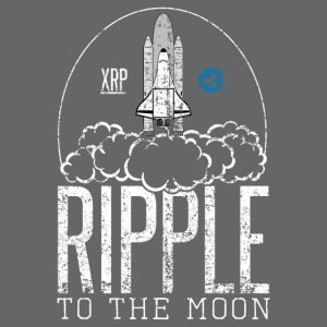 Ripple To The Moon Rocket Graphic XRP