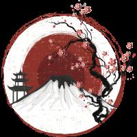 Fujiyama im Sonnenuntergang White Edition