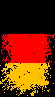 Fan-Shirt: Deutschland Flagge Fußball